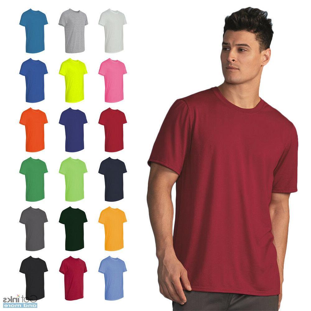 men s performance short sleeve t shirt