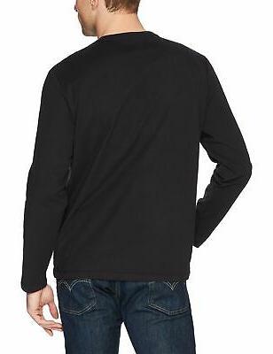 Amazon Regular-Fit Long-Sleeve Black X-Large