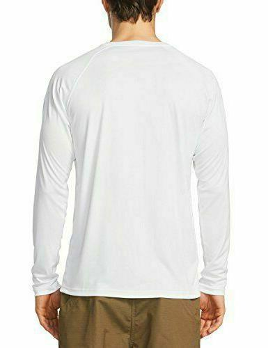 Baleaf Men'S 50+ Running Outdoor Sun Protection Long White