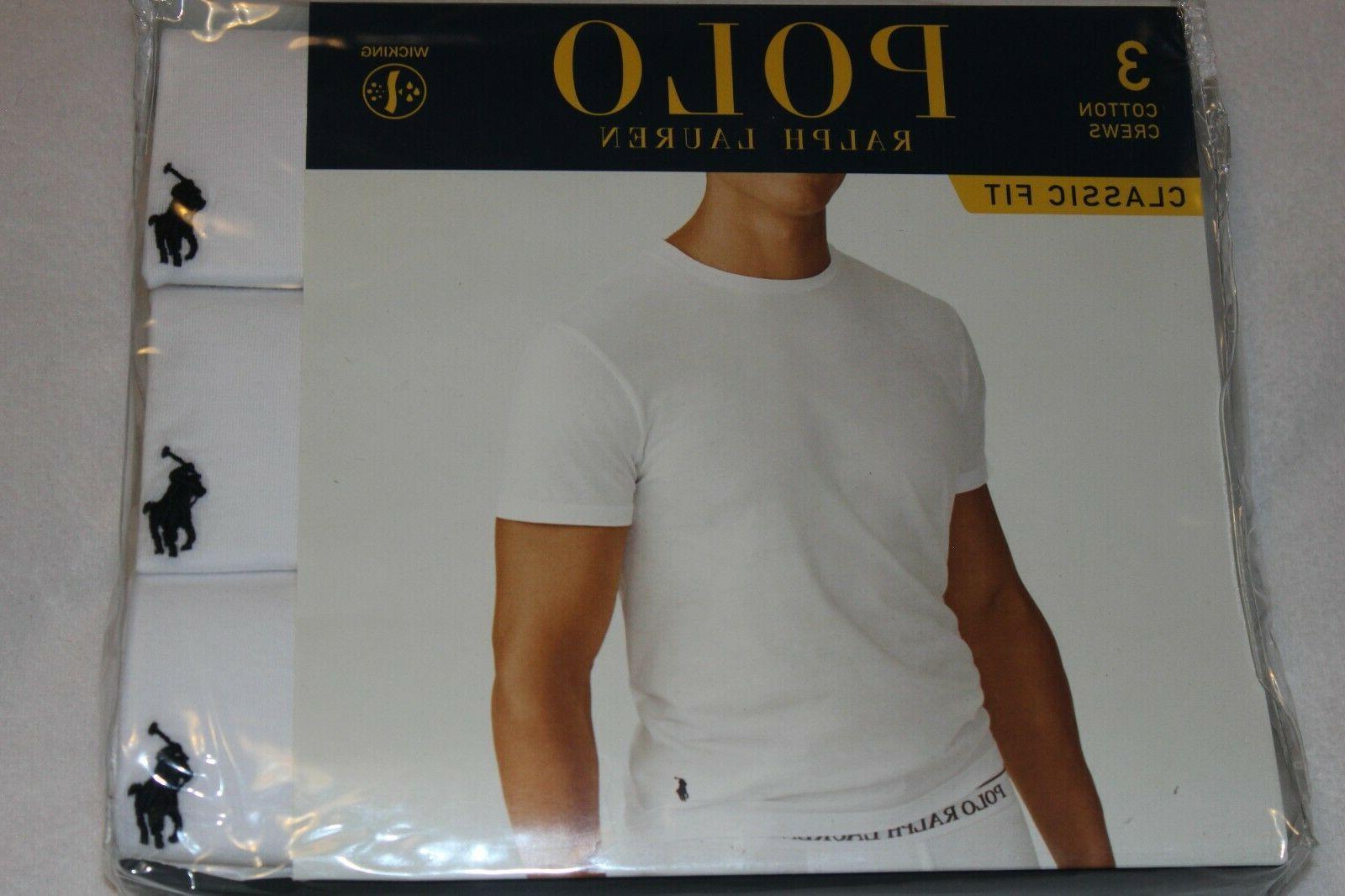 Polo Ralph Men's White 3-Pack Sizes S,M,L,XL