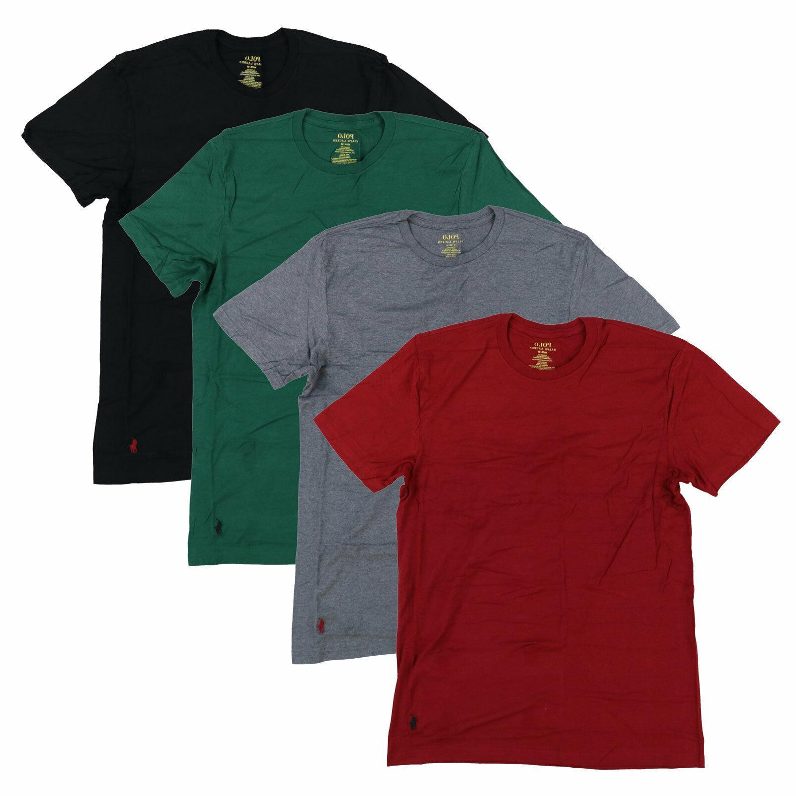 Polo Ralph Lauren Mens 4 Pack Classic Crew Neck Undershirts
