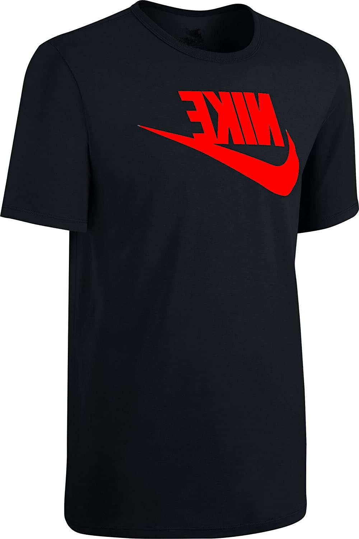 mens active sportswear t shirt red logo