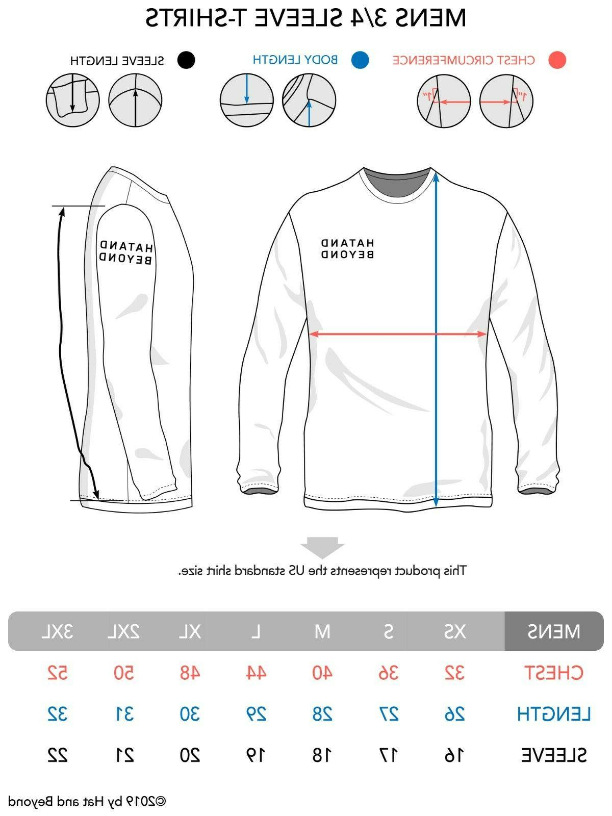 Mens Baseball Shirts 3/4 Tee Team Sport