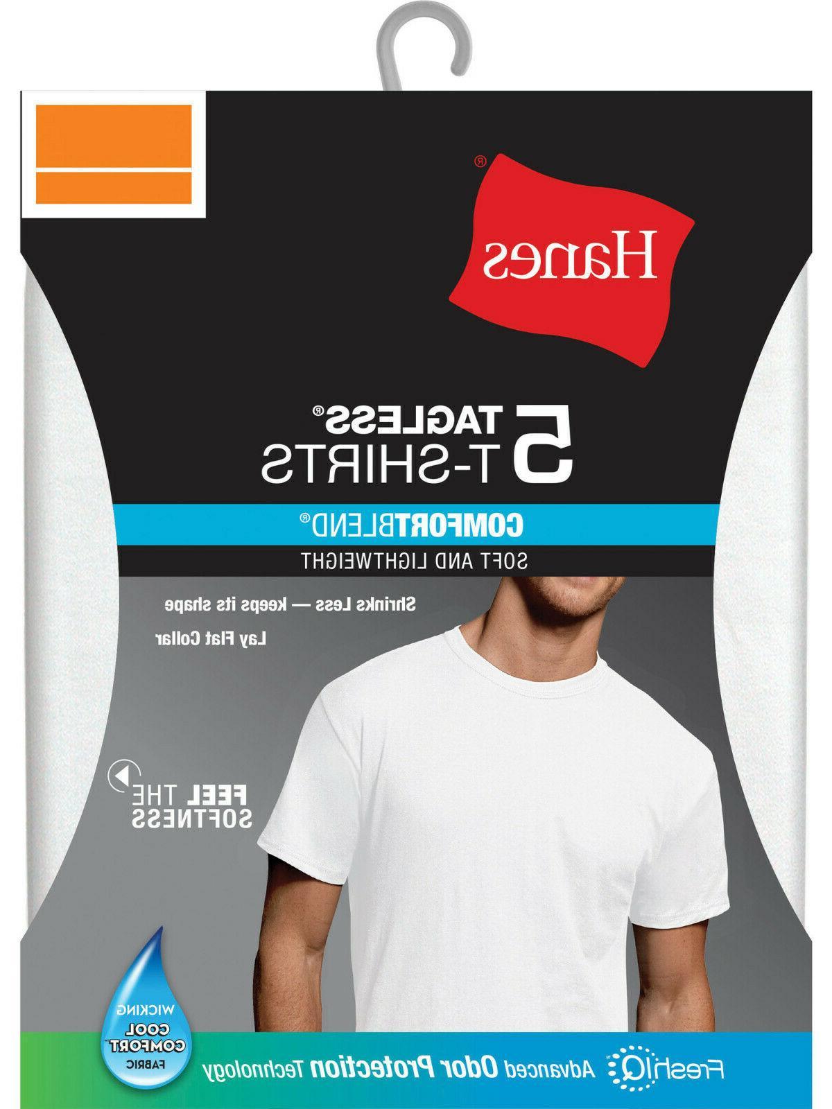 Hanes Mens Crew T-Shirts IQ, 5