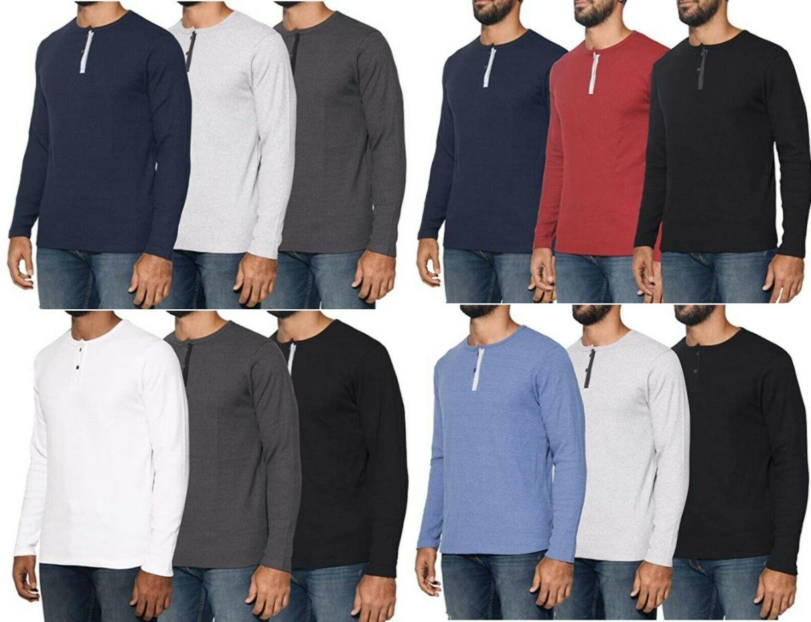 mens henley long sleeve fashion casual fit