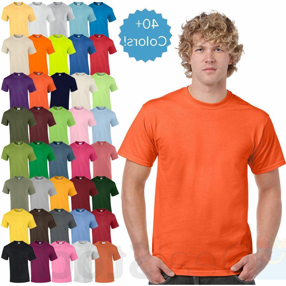mens plain t shirts solid cotton short