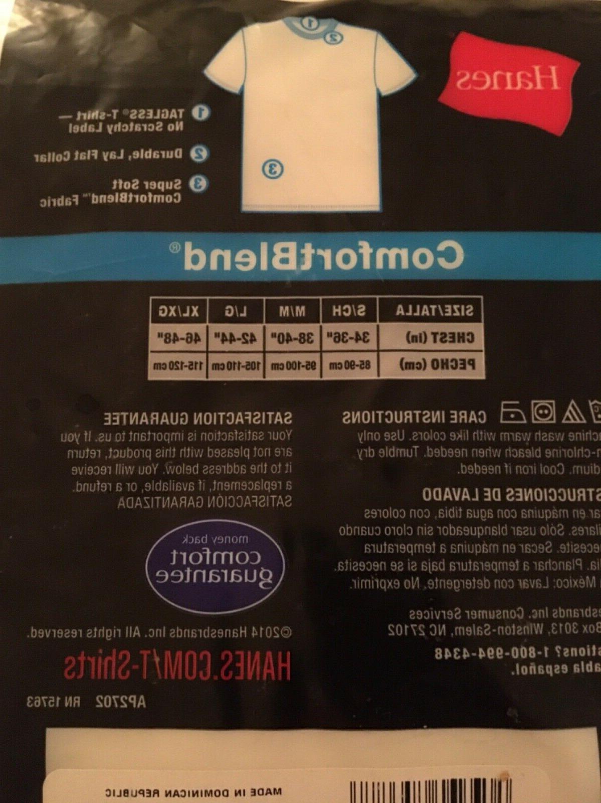 Hanes Men's Tagless Comfort Blend 4 NIP M