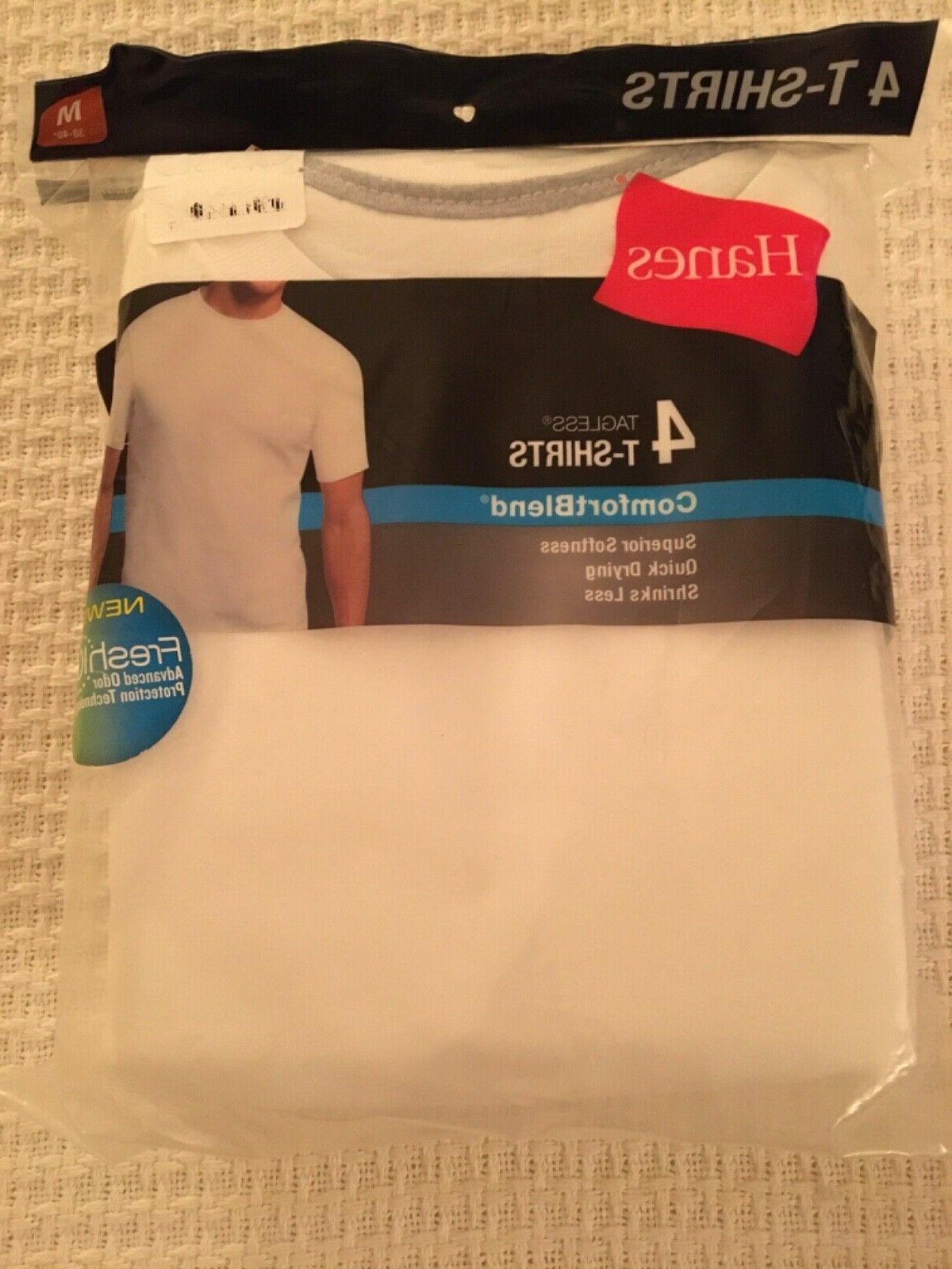mens tagless comfort blend 4 tee shirts