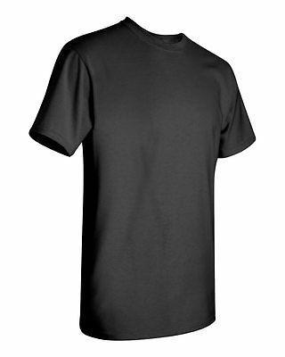 6 Wholesale Gildan 100% Heavy Cotton BLACK Adult T-Shirts Bu
