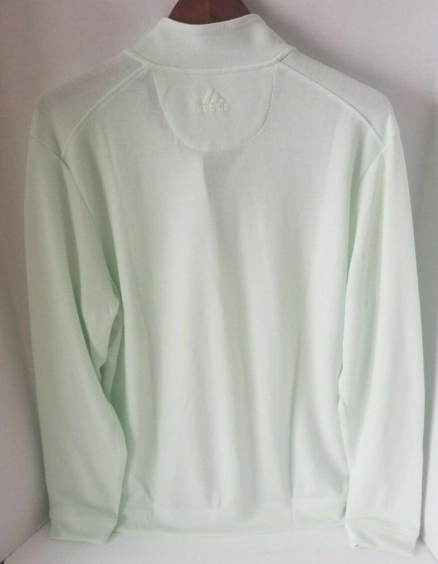 adidas 1/4 Zip Pullover Shirt CW5029 Aero L