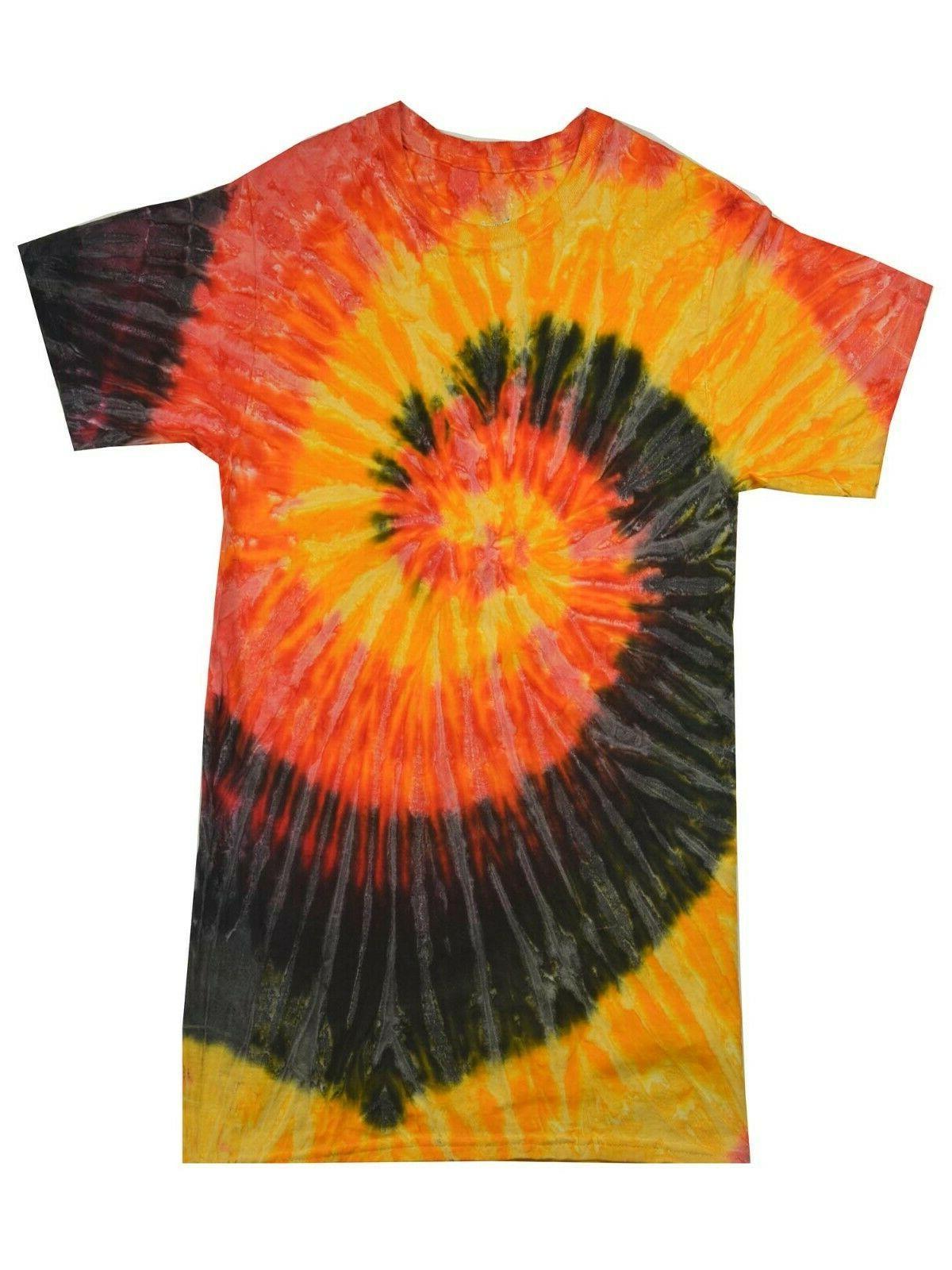 Multi-Color Tie Dye Adult S XL 5XL, 100% Cotton