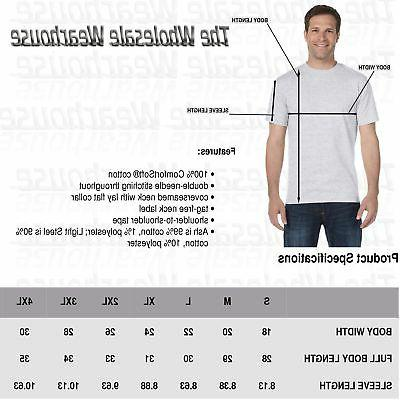 Hanes Mens 100% T-Shirt ComfortSoft S-3XL 5250T