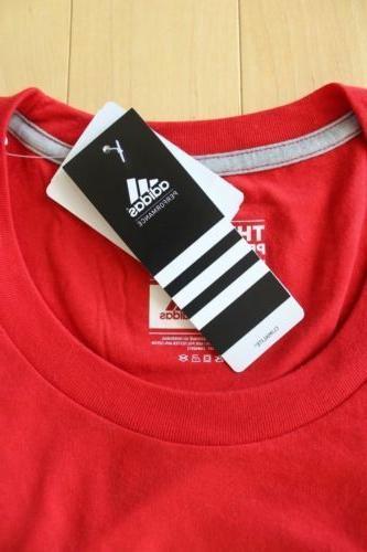 NWT ADIDAS & TALL T-Shirt RED