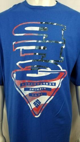 Columbia PFG T shirt Blue PFG 3X