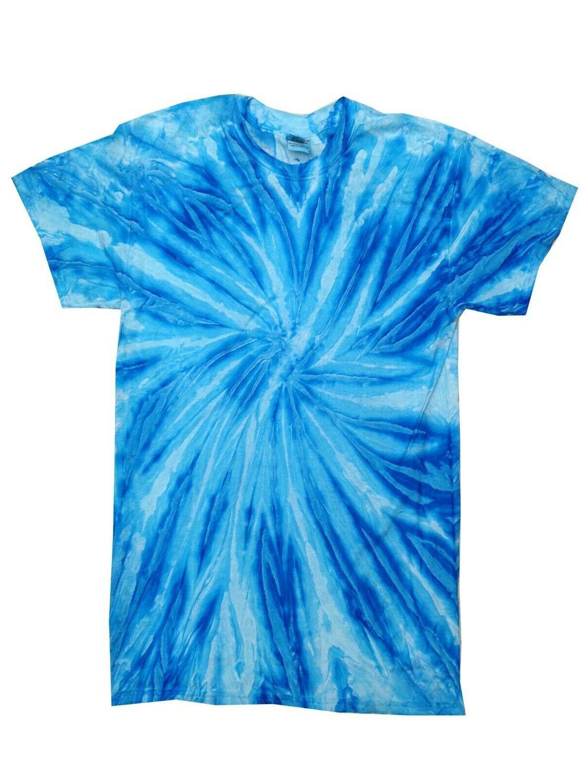 Pick a Blue Tie Dye T-Shirts M 3XL 4XL Colortone