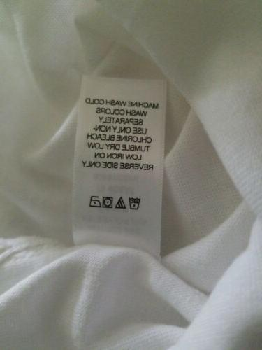 """WOMAN WITHIN 5x white crew neck """"Summer Graphic New"""