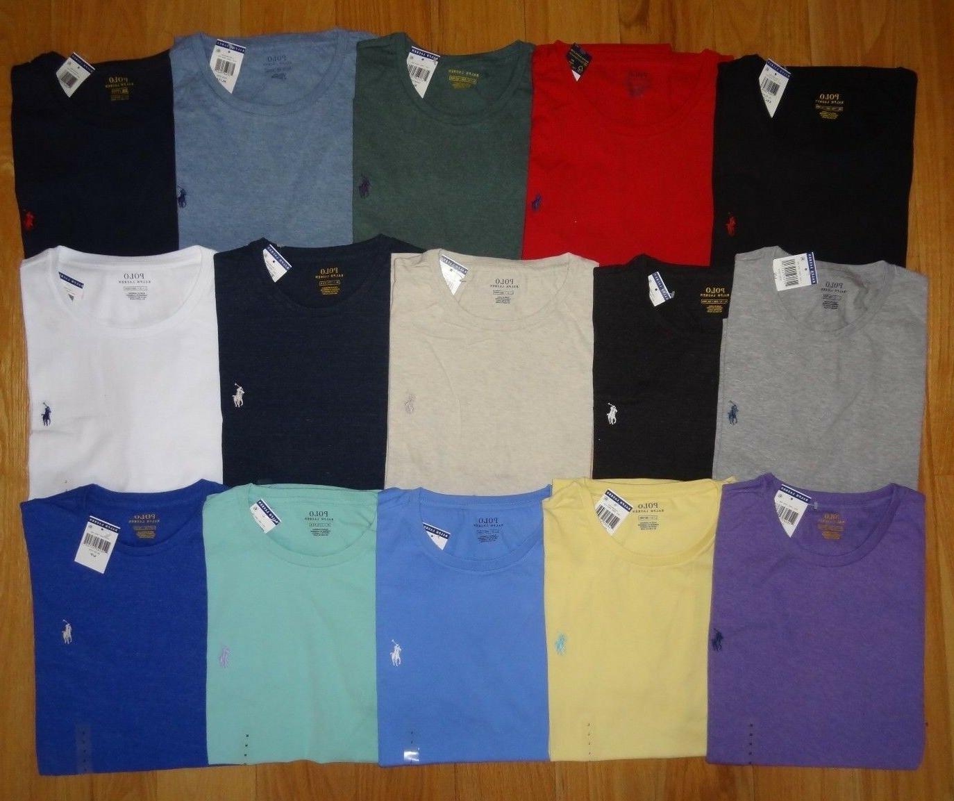 Polo Ralph Lauren Mens T Shirt Brand With CREW NECK Tee M XL XXL