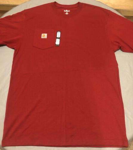 Carhartt Red Pocket Shirt Size Lg Large New Tags