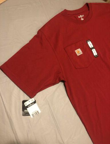 Carhartt Red Pocket T Shirt Mens Large Tags