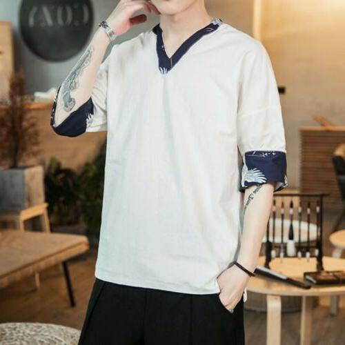 Retro Comfort T-shirt Summer Linen Casual Tops Colors