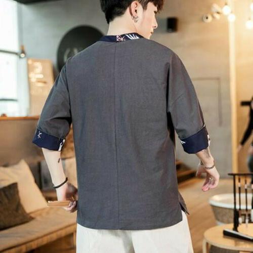 Retro Comfort Summer Linen V-neck Casual Tops Blouses Colors