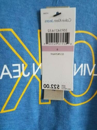 T-SHIRT CALVIN BLUE FOR WITH
