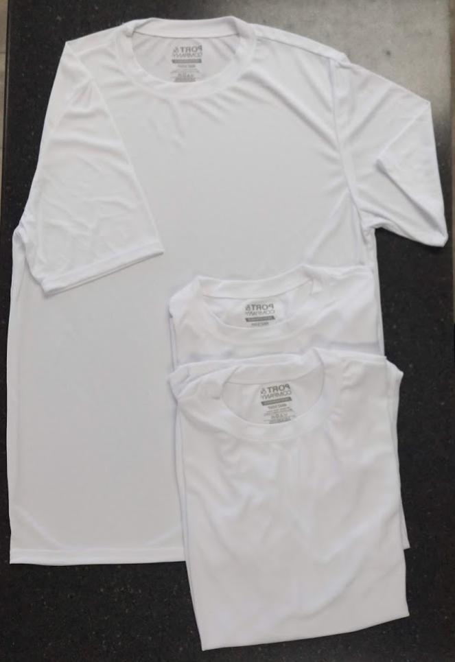 100% polyester white, Medium