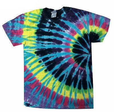 tie dye t shirts multi color flashback