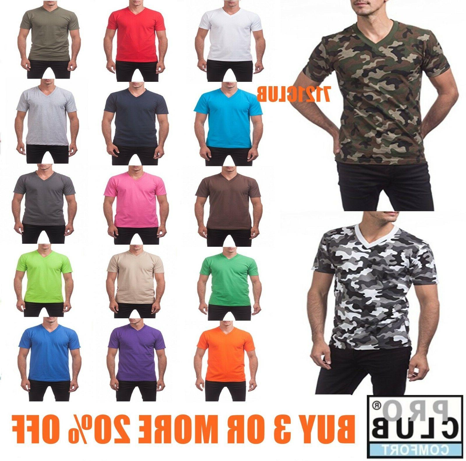 v neck t shirts mens camo plain