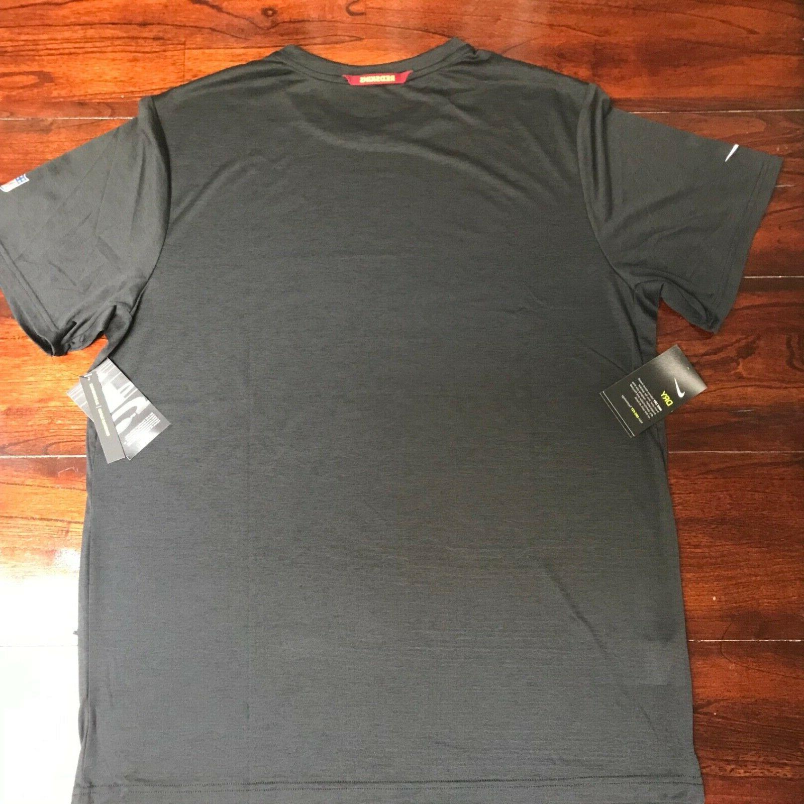 Washington Redskins On-Field T-Shirt Dri-Fit XL 906295-010 Black