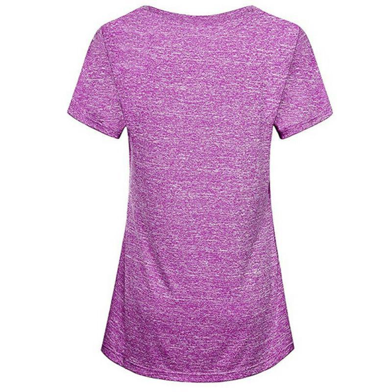 Women Sport Short Sleeve Yoga Tops Activewear Running Color