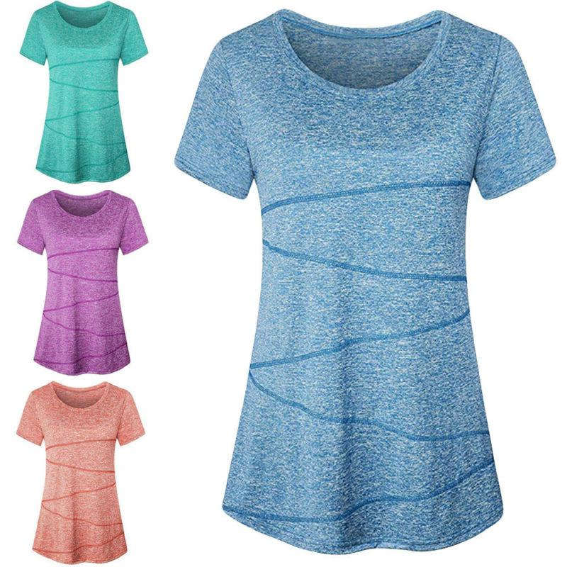 women sport blouse short sleeve yoga tops
