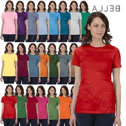 Bella Ladies  Womens Favorite Tee Cotton Longer Junior Fit T