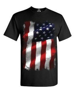 Large American Flag Patriotic T-Shirt July 4th Memorial Labo