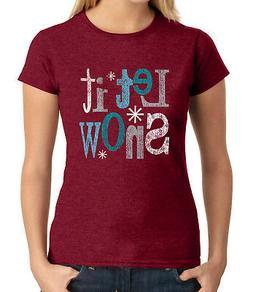 Let it snow for SKI JUNIOR'S T-shirt Winter theme snowflake