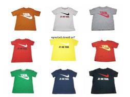 Little Boys Toddler Nike Tee Shirt T-Shirt White Blue Red Gr