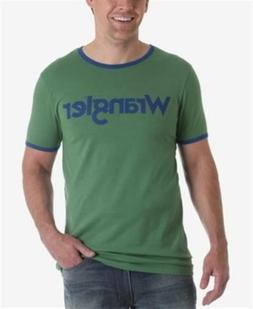 Wrangler Logo Ringer T Shirt Fairway Green Mens Size XL New