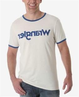 Wrangler Logo Ringer T Shirt Off White Mens Size Large New