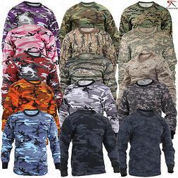 Rothco Long Sleeve Camo T-Shirts - Military Style Long Sleev