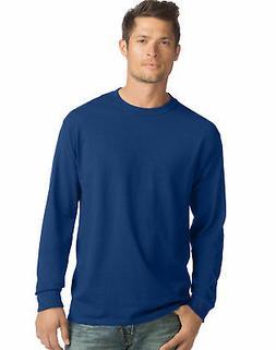 Hanes Long-Sleeve T-Shirt 4-Pack Tee ComfortSoft Men's 100%