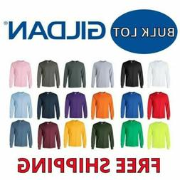 Gildan Long Sleeve T-Shirts Bulk Lots Tees S-XL Wholesale Ch