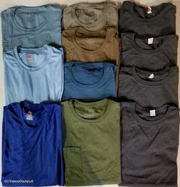 Lot Men's T-Shirts - Hanes - Fruit of the Loom - Pocket - At
