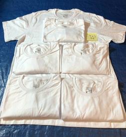 Lot Jockey Mens White Classic Crew Neck T-Shirts STAYNEW 100