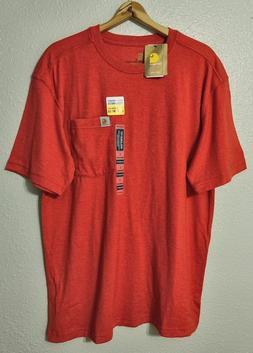 Carhartt Maddock S/S Pocket T-Shirt Mens 3XL Chili Heather L