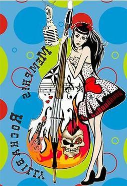MEMPHIS ROCKABILLY MUSIC T SHIRTS DOUBLE BASS BLUES ROCK & R