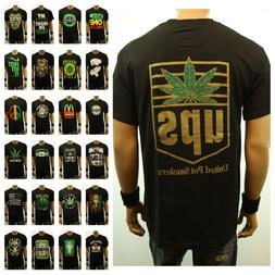Men Funny Graphic T-Shirt Weed Marijuana Cannabis Pot Fashio