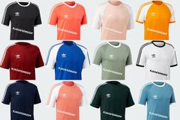 ADIDAS MEN ORIGINAL CALIFORNIA 3-STRIPE TEE EMBROIDERED TREF