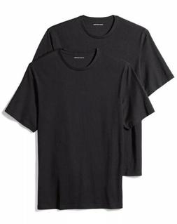 Amazon Essentials Men's 2-Pack Loose-Fit Short-Sleeve Crewne