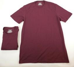 Amazon Essentials Men's 2-Pack Slim-fit Crew T-Shirt Burgund