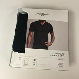 GOODFELLOW Men's 3 Pack Premium Black V-Neck T-Shirts - Size